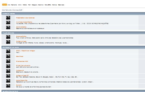Cyber-Mecha, le forum