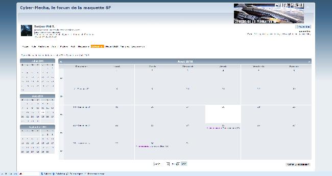Le calendrier du cyberméchaniste