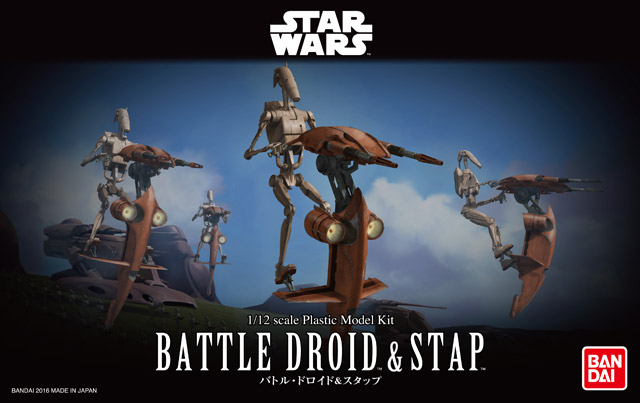 Bandai Battle Droid & STAP (1)